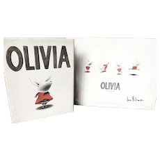 Olivia Poster Signed by Author Ian Falconer With 1st printing book !
