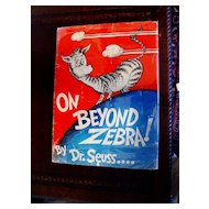 On Beyond Zebra! Dr Seuss 1st printing in Dust Jacket 1955