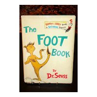 The Foot Book Seuss 1st / 1st in DJ 1968