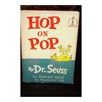 Hop on Pop 1st edition 1st Printing w Dust Jacket 1963 Dr Seuss