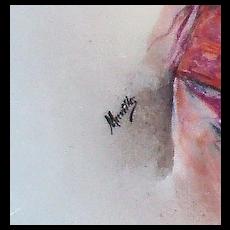 "Lovely Antique 9 1/2"" Limoges Portrait plate ""Muville"""