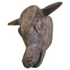 Vintage African Ox Mask, Baule