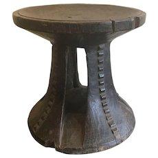 Vintage Baule Stool, Ivory Coast