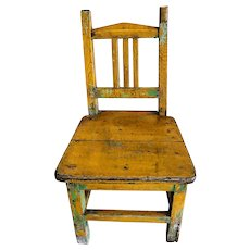 Vintage Hand painted Chinese Children's Chair