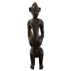 Amazing Vintage Senufo Wooden Statue from the Ivory Coast
