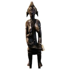 Amazing Female Senufo Wooden Statue