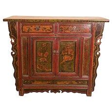 Hand painted Cabinet from Shanxi, China circa 19th Century