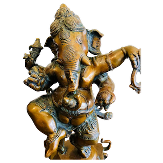 Large Bronze Ganesh from India circa 1990's