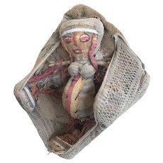 12th Century Chancay Wool/Cotton Doll Tableau
