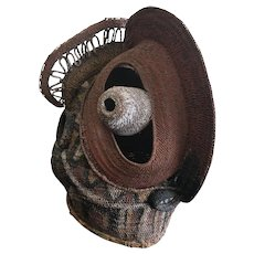 Vintage Sepik River Abelam Baba Tagwa Basketry Mask
