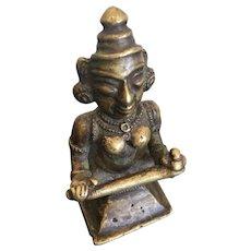 Antique Bronze Image of Dakini, E. Nepal