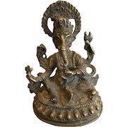 19th Century Bronze Image of Ganesh