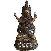 Early 19th Century Bronze statue of Shiva Shakto Yabyum