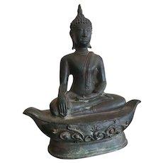 Fine Lanna States Bronze Buddha, N. Thailand