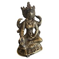 Antique Bronze Image of Lord Vishnu