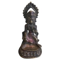 Antique Bronze Image of Hanuman Mahabur Marut, Early 19th Century, Nepal