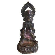 Antique Bronze Image of Hanuman Mahabur Marut, Early 19th Century, Nepal