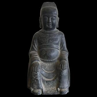 Bronze Grandfather or Mandarin Image, Ching Dynasty Circa 1800