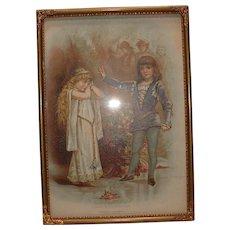 Vintage Hamlet Ophelia Picture Print Frances Brundage Hubinger Starch Red Cross