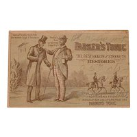 Antique Victorian Trading Card - Parker's Tonic