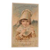 Antique Advertising Victorian Trading Card - Shaker Family Pills