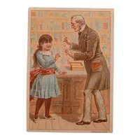 Antique Victorian Trading Card - Dr. Thompson's Eye Water 1891