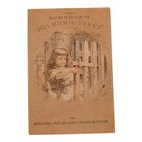 Antique Advertising Victorian Trading Card - Schenck's Pulmonic Syrup
