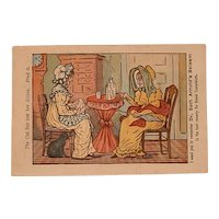 Antique Advertising Victorian Trading Card - PUZZLE CARD - Dr. Seth Arnold's Balsam