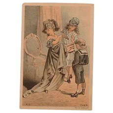 Antique Advertising Victorian Trading Card - Lutted's S. P. Cough Drops