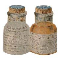 Antique Advertising Victorian Trading Card - Blue Seal Vaseline DIE CUT - Cheesbrough MFG.
