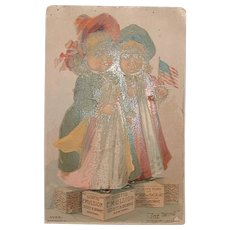 """Antique Advertising Victorian Trading Card - Scott's Emulsion """"The Twins"""""""