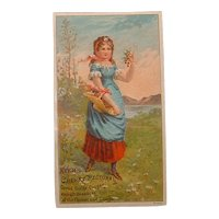 Antique Advertising Victorian Trading Card - Ayer's Cherry Pectoral