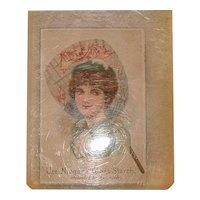Antique Advertising Victorian Trading Card - Niagara Gloss Starch