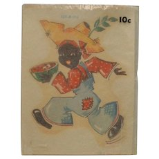 Rare Meyercord Company Black Americana Decal Boy with Watermelon