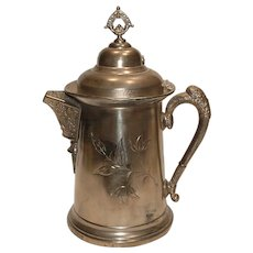 Large Lexington Silver Plate Co Triple Plate Victorian Repose Water Pitcher marked 999