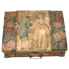 RARE Large and Gorgeous Celluloid Victorian Dresser and Vanity Box with Contents!