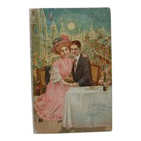 Post Card Greeting From Coney Island #798, Circa 1909 Printed in Saxony Germany