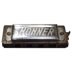 Vintage Rare Miniature Hohner Harmonica  3.5cm Long made in Germany