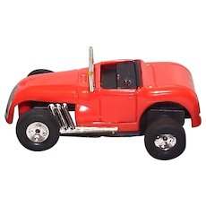 Slot Car Aurora T-Jet HO Scale Red Roadster