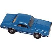 Slot Car Aurora HO Scale Blue Cougar