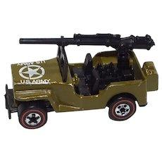 Hot Wheels Redline Army Jeep w/ gun