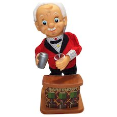Your Friendly Bartender Animated Battery Operated Vintage Amico Toy With Box