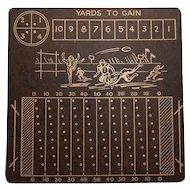 "Vintage Masonite Football Game Board ""Yards to Gain"""