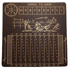 "Vintage Masonite Football Game Board ""Yards to Gain"""