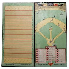 1940's Vintage Parker Bros. Checkers Football and Baseball Game Board - Red Tag Sale Item