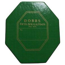 Vintage Salesman Sample Miniature DOBBS Fifth Avenue New York HAT BOX with MINIATURE FELT FEDORA HAT!