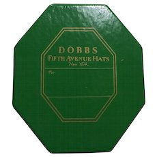 Vintage Salesman Sample Miniature DOBBS Fifth Avenue New York HAT BOX with MINIATURE FELT FEDORA HAT!