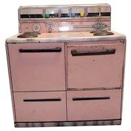 Vintage 1950's Wolverine Pink Tin Stove