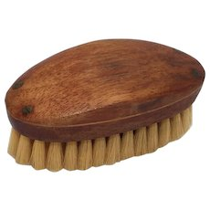 Vintage Man's Oval Wooden Grooming Brush for Hair and or Clothes Vanity Item