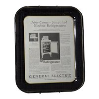 1977 General Electric 50th Anniversary - Making Quality Refrigerator Ad Tray